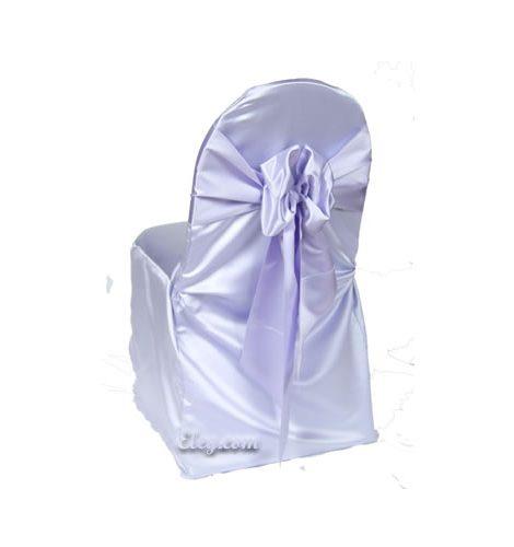 lilac lamour satin banquet chair cover