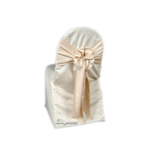 nu champagne satin lamour universal chair cover