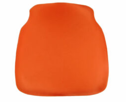 orange chiavari chair cap seat cushion