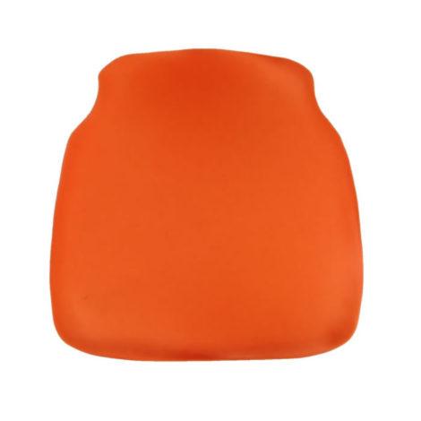 orange chiavari chair cap seat cushion