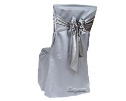 platinum lamour satin banquet chair cover