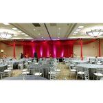 red ceiling drape special wedding event chicago