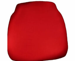 red chiavari chair cap seat cushion