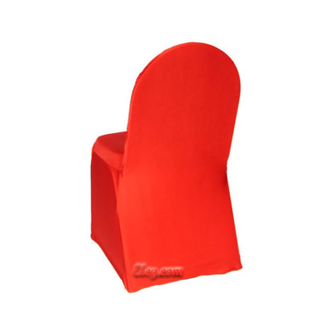red stretch spandex chair cover