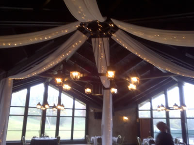Lighted Hung Ceiling Fabric Drape Als Chicago Lighting Special Wedding Events