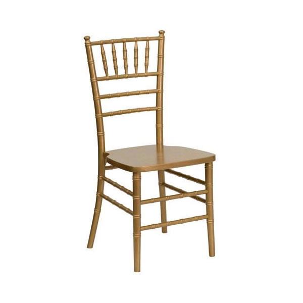 Gold chiavari chair rental chicago weddings