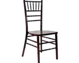 Mahogany chiavari chair rental chicago