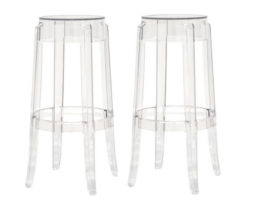 Clear acrylic ghost bar stools rent chicago suburbs