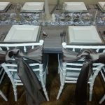 Gray washed farm french country tent grouping rental table grouping chicago suburbs