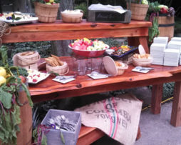 rent rustic harvest wood kings table benches chicago milwaukee