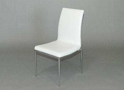 white versa leather chameleon dining chair