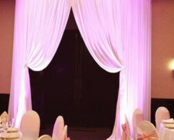 round doorway drape curved