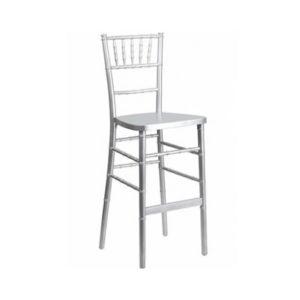 Silver chiavari bar height barstool bar stool chair rental chicago