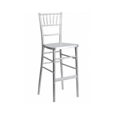 Silver chiavari bar height barstool bar stool chair rental chicago