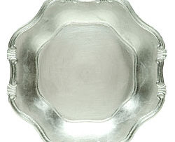 silver lacquer barouque service charger plate