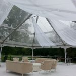 tent hung ceiling fabric drape rentals Chicago special wedding events