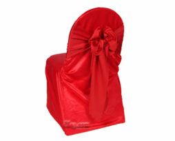 valentine red lamour satin small banquet chair cover