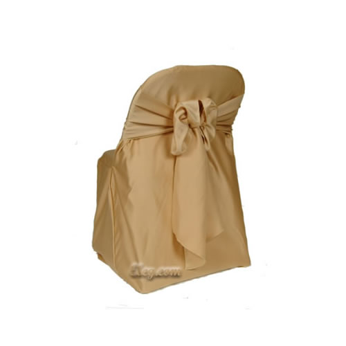 victorian gold lamour satin folding chair cover