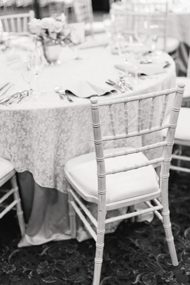 white antique vintage wedding reception chiavari chair rental