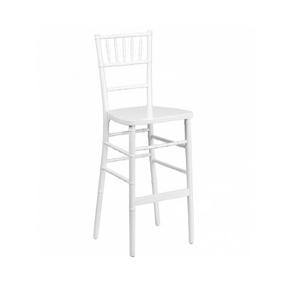 White Chiavari Bar Stool Chair Barstool Rental Chicago