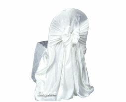white crush princess banquet chair cover