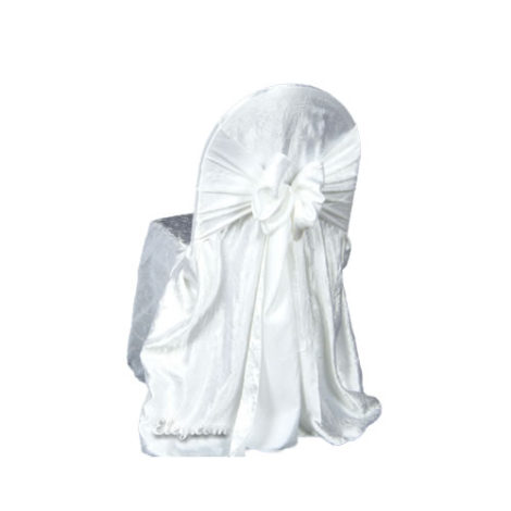 white crush princess banquet chair cover