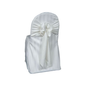 ivory imperial stripe universal chair cover
