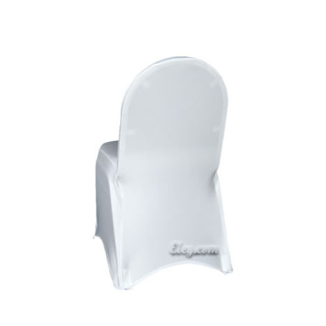 white stretch spandex chair cover
