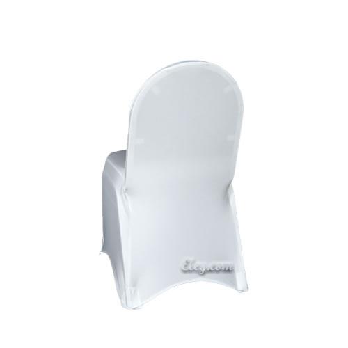white stretch spandex chair cover