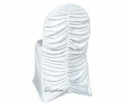 white spandex corset chair cover