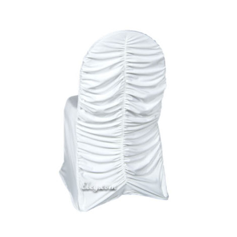 white spandex corset chair cover
