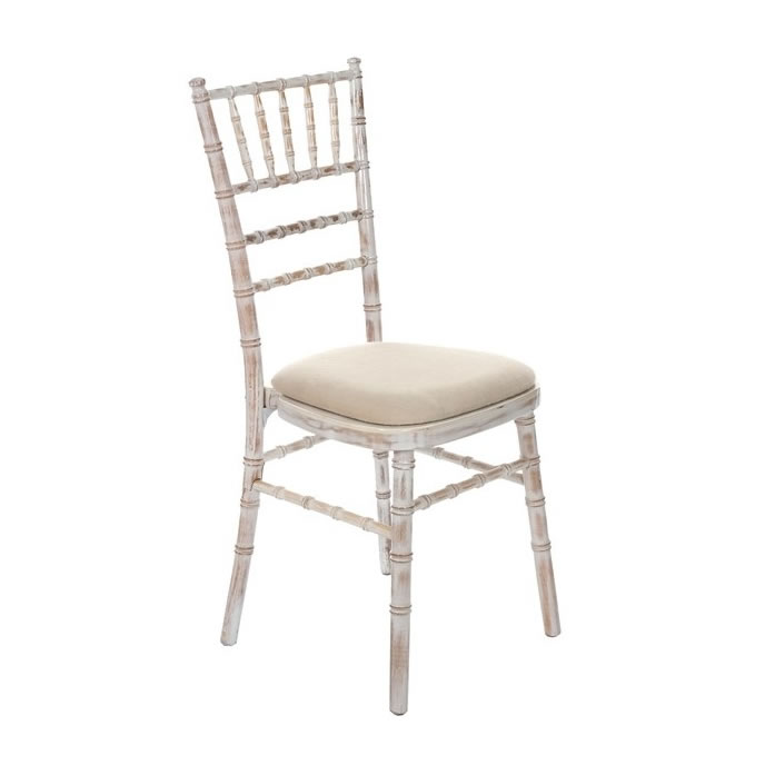 White Vintage Weathered Chiavari Chair Egpres