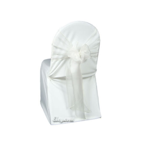 white wrinkle free banquet chair cover