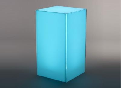 acrylic bar height highboy LED table