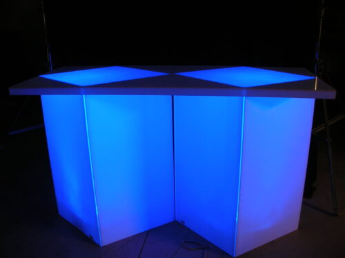 acrylic service bar height table