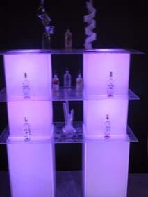 acrylic back bar