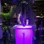 acrylic bar height highboy branded table