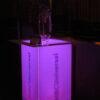 branded acrylic bar height highboy LED table