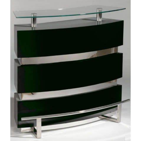 Black chrome Modern modular reflections bar