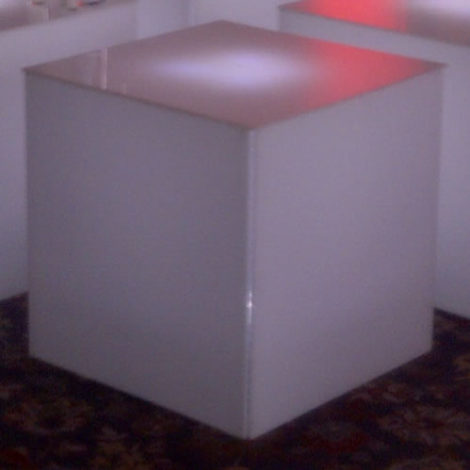 acrylic end table rental chicago