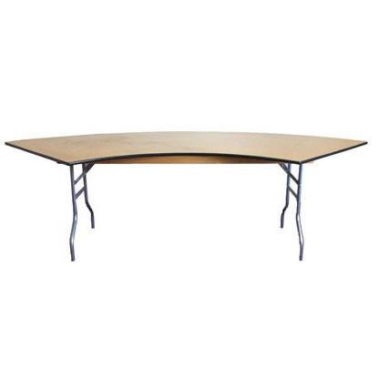 banquet serpentine wood folding banquet table