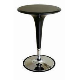 black acrylic adjustable highboy cocktail bar table