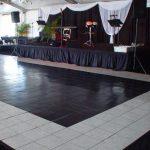 Black and white unique designed dance floor rental Chicago