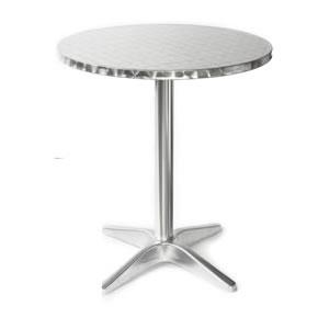 Brushed Aluminum Bistro Tail Cabaret Table