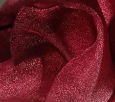 burgundy red organza