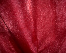 cherry red organza