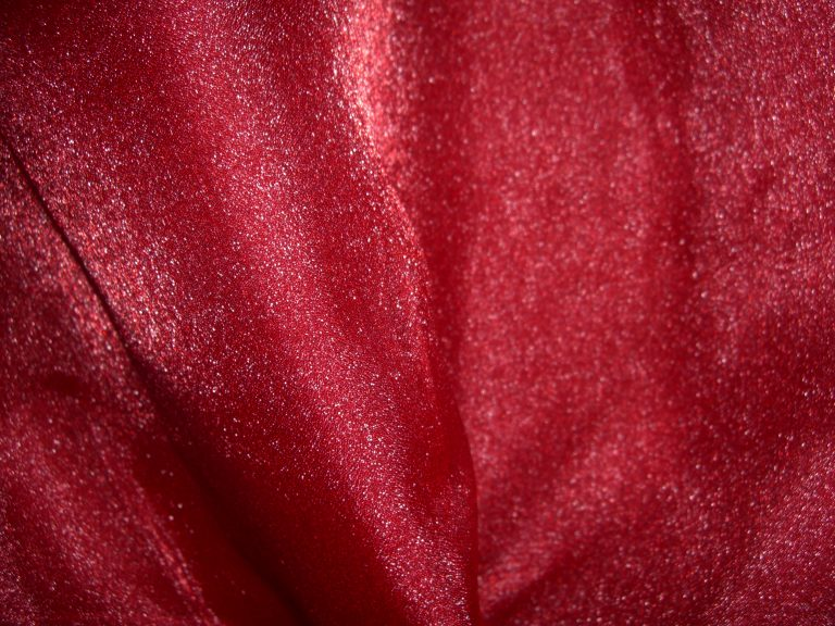 cherry red organza
