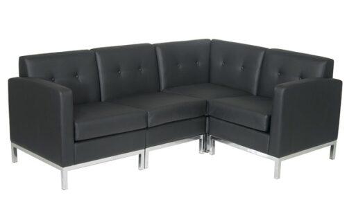 chicago rent black lounge furniture set