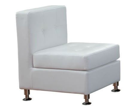 deco white leather chairs lounge furniture