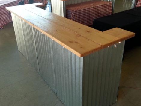 country bar aluminum panel service bar